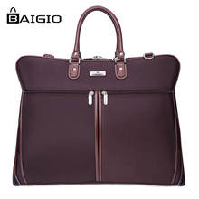 Baigio 2017 Spring Travel Garment Bag Unisex for Men and Women Business And Travel Bags Mens Travel Totes Solid 5 Colors SuitBag(China (Mainland))