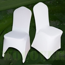 100 PCS Stretch Elastic Universal White Spandex Wedding Chair Covers for Weddings Party Banquet Hotel Lycra Polyester Fabric(China (Mainland))