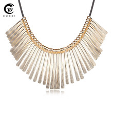 Fine Jewelry Women Fashion Crystal Pendants Necklaces Chokers Wedding Statement Maxi Plated Bridal Link Party Dress Accessories(China (Mainland))