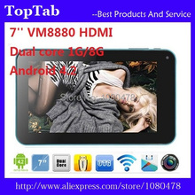 7 inch Dual core dual camera HDMI Android 4.2.2 VM 8880 1G 8GB Tablet PC(China (Mainland))