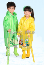 Pink Green Blue burberry_ kids Cartoon Raincoat Yellow Rainwear Children with Schoolbags Rain Coat Boys Rain Jacket Wateproof