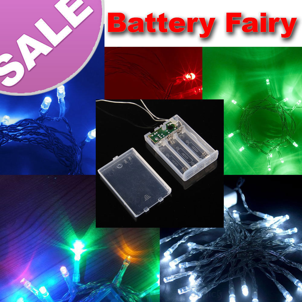 4m BATTERY powered 40 LED MINI FAIRY STRING LIGHTS For Christmas /Wedding Xmas garland party Decor-9 colors optional(China (Mainland))