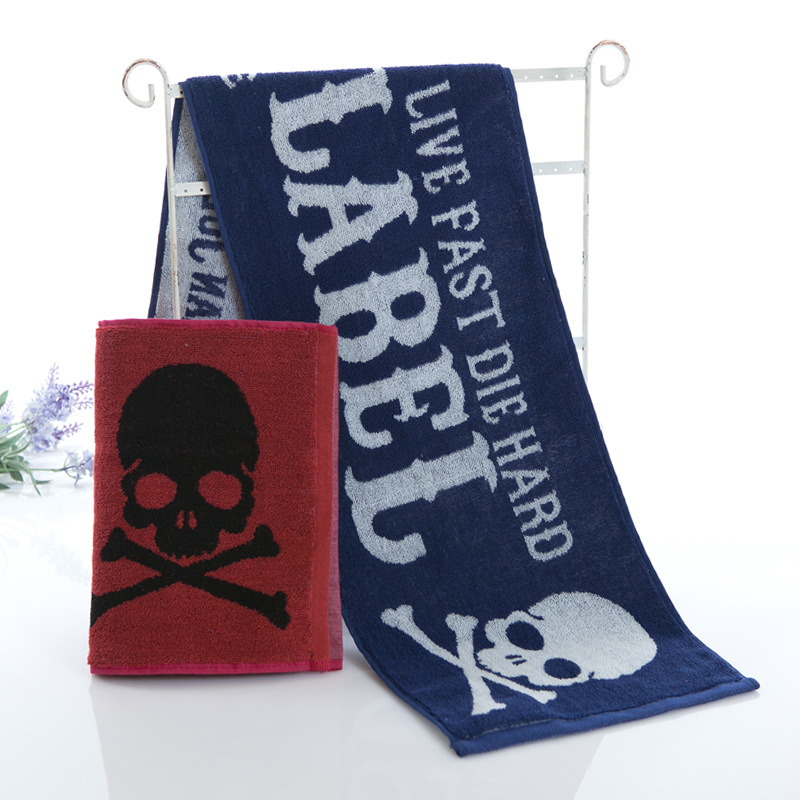 New Cotton Beach Towel For Adults Skull Design