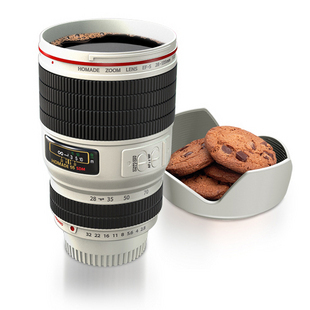 Cup slr lens camera lenses glass original double layer lunch box(China (Mainland))