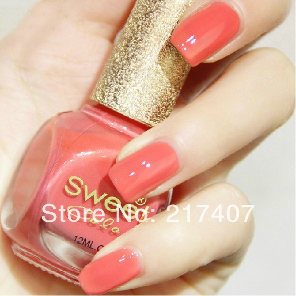Free Shipping Wholesale 5PCS New fashion eco-friendly candy sweet Pink color oil Nail Art Polish Perfect Choice 12ml Top Coat(China (Mainland))
