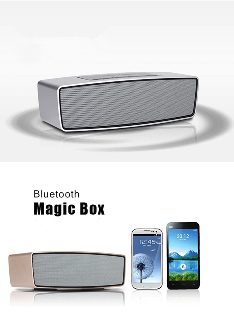 100% Original hot sale Wireless MP3 Bluetooth Speaker with TF card surround For Phone Apple & Android Devices PC Computer(China (Mainland))