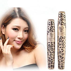 rimel Wild Leopard Mascara 3D FIBER LASHES Love Alpha Waterproof Transplanting Gel&Natural Fibers Make Up Cosmetics maquiagem(China (Mainland))