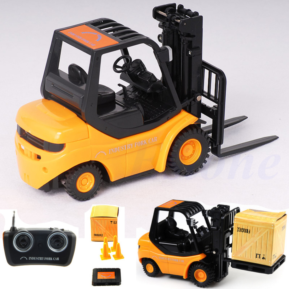 Mini RC Toy Fork Lift Radio Remote Control Forklift RC Truck Crane Car Kid Toys(China (Mainland))
