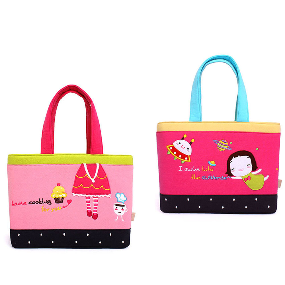 Soft Cotton Handbag Insulation Lunch Bag Picnic Outdoor Activities Tote Baby Diaper Nappy Carrier Casual Pouch High Qual(China (Mainland))