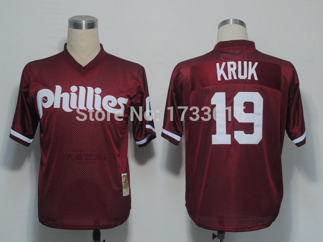Kruk #19 Jersey Philadelphia Phillies Jersey Authentic Best Quality CottonBreathable Stitched Jersey Embroidery Logos Quick Dry(China (Mainland))