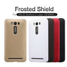 NILLKIN Super Frosted Shield hard back cover case for Asus Zenfone 2 Laser (ZE500KL 5 inch)with screen protector Retail package(China (Mainland))