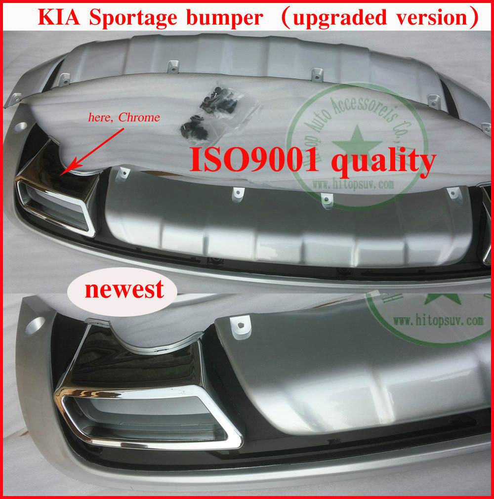 KIA SPORTAGE bumper protector/ bumper guard/skid plate/bull bar, front+rear, ISO9001, slap-up quality, free shipping,2011-2014(China (Mainland))