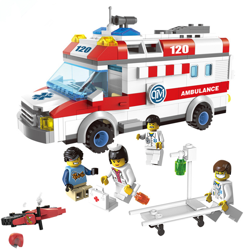 ENLIGHTEN 328 Pcs City Work Emergency Treatment Building Blocks Compatible with toys City Child Educational Bricks Toys For Kids(China (Mainland))