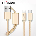 2 in 1 Lightning Micro USB Cable For IOS And Android Fast Charging Cable Cord For