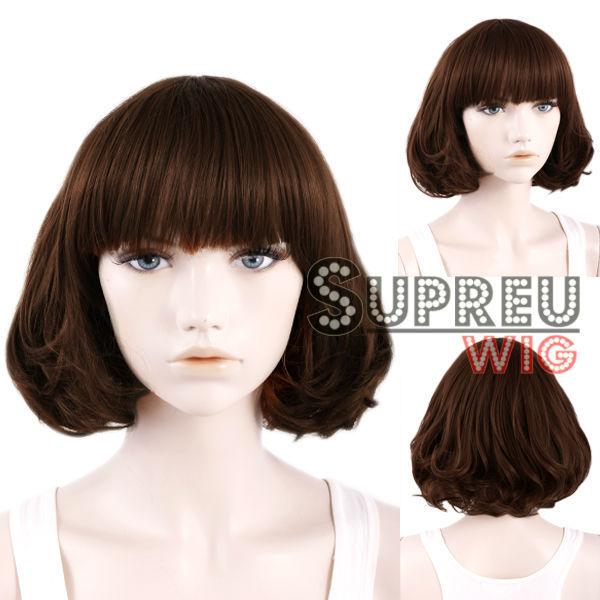 10 Short Curly Brown Fashion Hair Wig WIG087A<br><br>Aliexpress