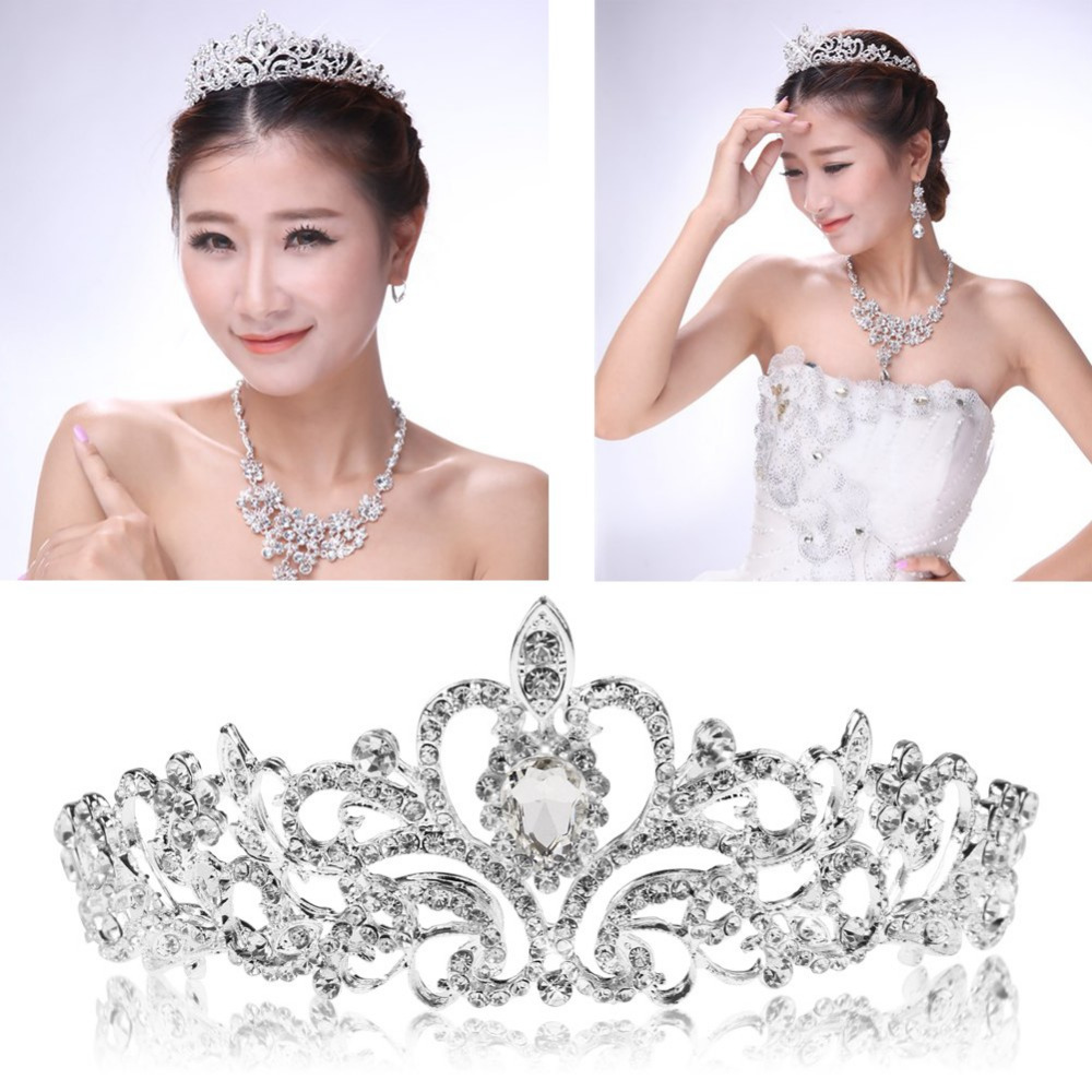 bridal tiara elegante couronne soiree de mariage diademe de princesse pour nouvelle mariee in. Black Bedroom Furniture Sets. Home Design Ideas
