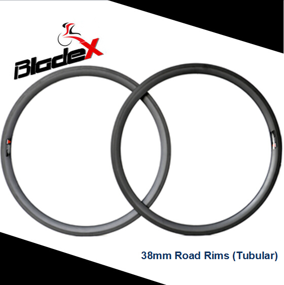 BEST ROAD CARBON RIMS CarbonBlade 38T-Smooth Braking Performance;Basalt Version;38mm Tubular;T700SC High Tensile Material(China (Mainland))
