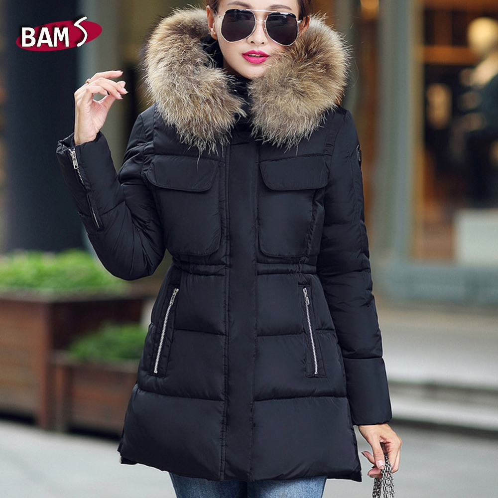 Khaki coat with big fur hood