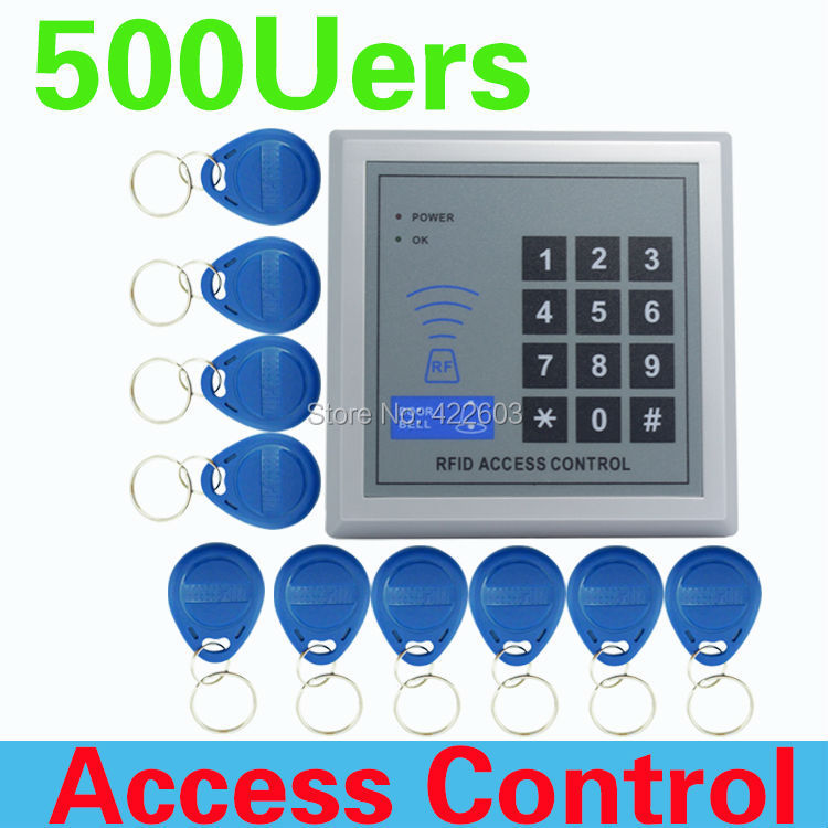 High quality and high security Security RFID Proximity Entry Door Lock Access Control System 500 User +10 Keys FREE SHIPPING(China (Mainland))