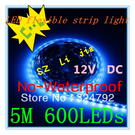 5M 3528 120 LED Light Non-Waterproof 12V 36W DD02-N RRGB/ed/Yellow/Blue/Green/White/Warm White Color Strip Light + Mail Free(China (Mainland))