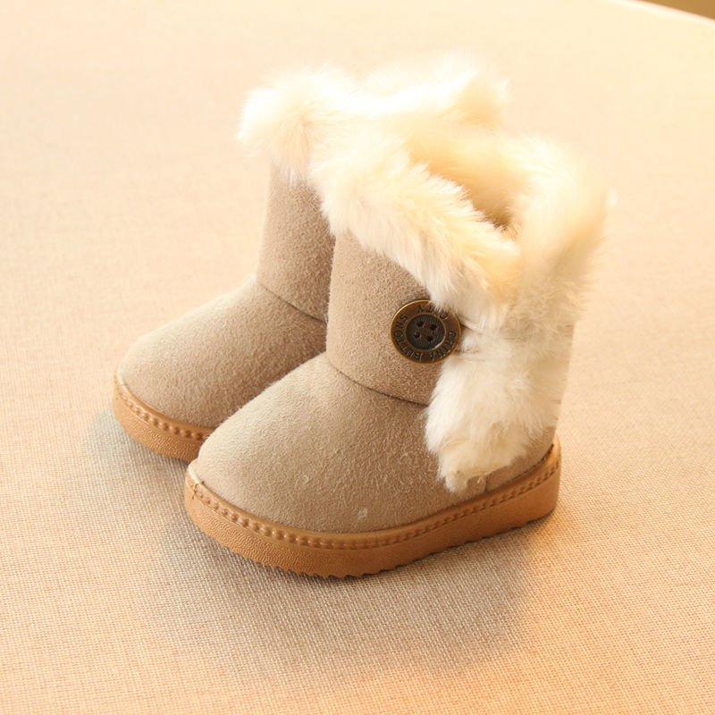 2016 Winter Children Boots Thick Warm Shoes Cotton-Padded Suede Buckle Boys Girls Boots Boys Snow Boots Kids Shoes EU 21-35(China (Mainland))