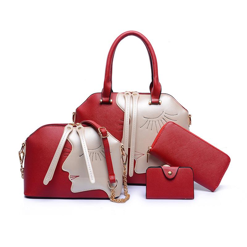 4 Pcs Womens bag set luxury famous brand handbags designer women shoulder bags set 2015 bolsos carteras mujer marca<br><br>Aliexpress