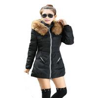 floersa new pure color slim winter jacket women long collars women down jacket manteau femme hiver - Manteau Femme Color