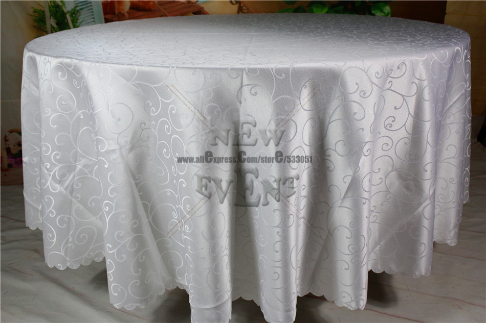 New Design For 2016 White Hook Flower Jacquard Tablecloth/Table Linen For Wedding Party Home Decorations/Wedding Supplies(China (Mainland))
