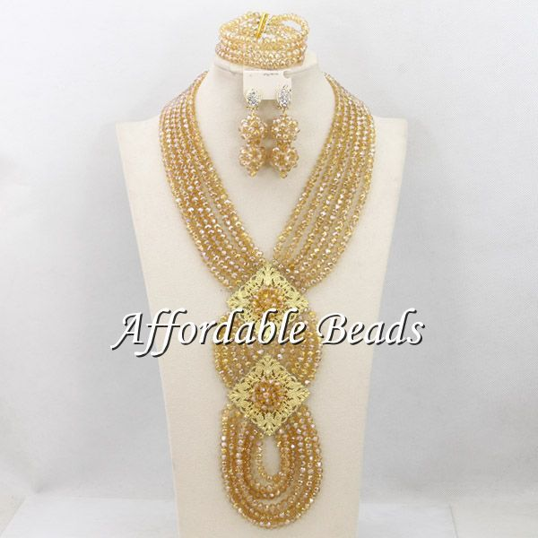 Fashion Gold Plated Jewelry Set Charming African Jewelry Set Handmade Design Wholesale Free Shipping ABS107(China (Mainland))