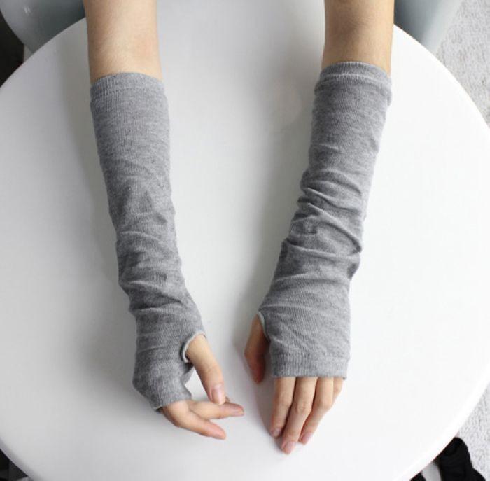 2016 New Gloves Women Fashion Unisex Men Autumn Winter Female Hand Arm Crochet Knit Long Male Stretchy Fingerless Warm S008
