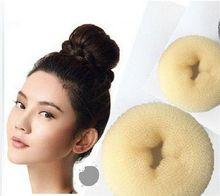 3Pcs/set S M L 3 Different Sizes Brown Personal Decorations Hair Styling Donut Magic Sponge Bun Ring Maker Former Twist Tools(China (Mainland))