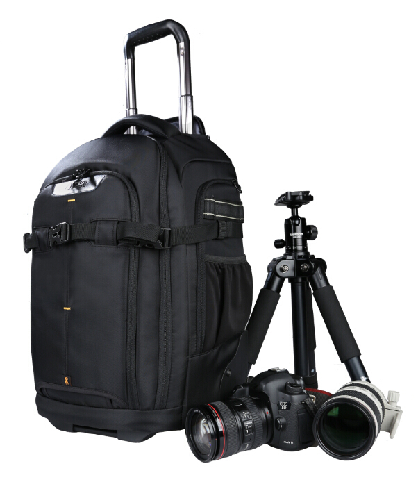 Free Shipping! KANI TC-020 AIRPORT take off CAMERA BAG SHOOTOUT ROLLING BACKPACK TROLLEY BAG(China (Mainland))
