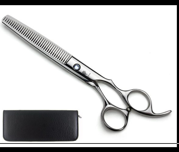 Pet hair scissors 6.5 INCH Silvery Dog hair thinning scissors come with scissors case 5PCS/LOT NEW(China (Mainland))