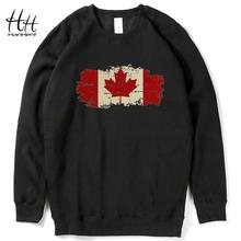HanHent Fleece O-neck Hoodies Men Canadian Flag Maple Leaf New Brand Design Retro Sweatshirt Luxury Harajuku Sweatshirt Men XXL(China (Mainland))