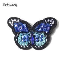 Artilady Bordir Burung Persia Pin Bros Kupu-kupu Yang Indah Desain untuk Wanita Pakaian Perhiasan Pesta Hadiah(China)