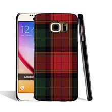 07287 RED BLUE TARTAN SCARF FASHION cell phone case cover for Samsung Galaxy S7 edge PLUS S6 S5 S4 S3 MINI