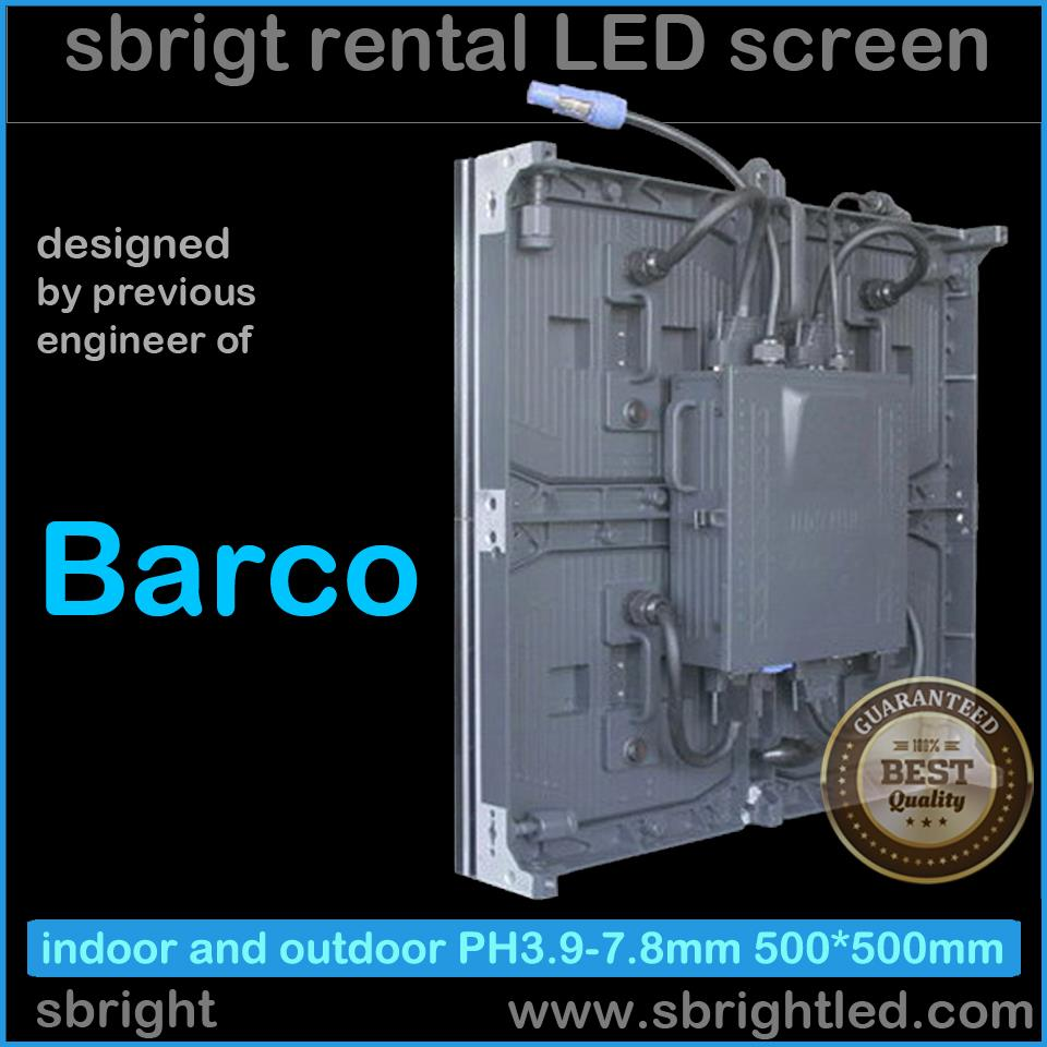 barco (previous barco engineer) designed LED display video screen moduarized P3.9mm rental fixed led system wall full color(China (Mainland))