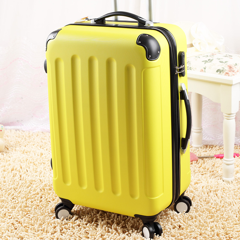 !20 24 28 abs pc travel luggage sets,straps style trolley bags,female hardside bags