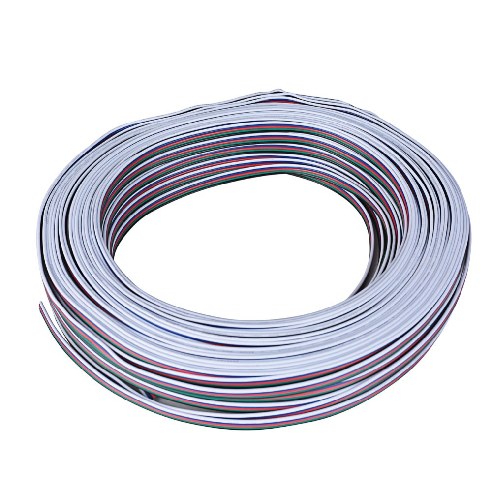 20meters Lot 5 Pin Rgbw Wire Cable Channels Led Strip Electrical Wiring Extension Extend
