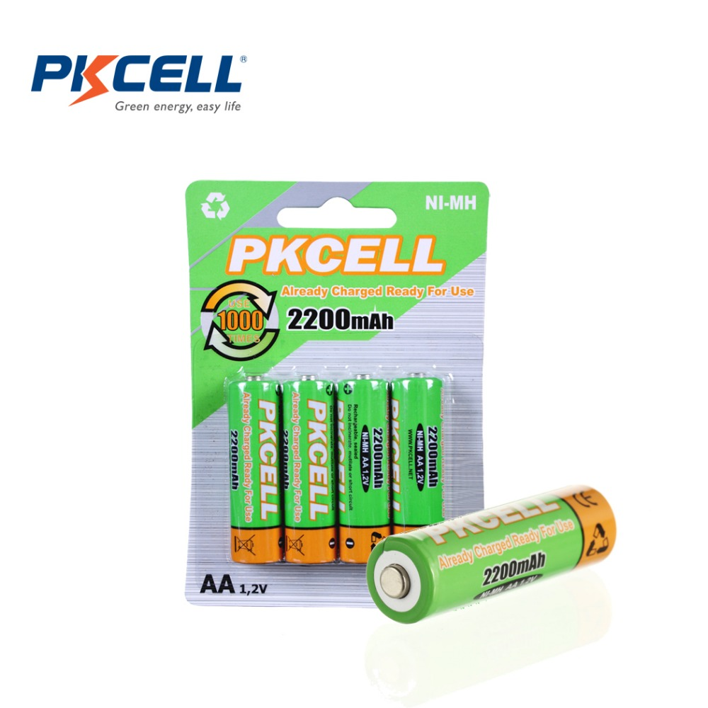 Гаджет  Free shipping Low self-discharge Durable AA 1.2V 2200mAh Ni-MH Rechargeable Batteries For Coupon 4pcs/lot None Бытовая электроника