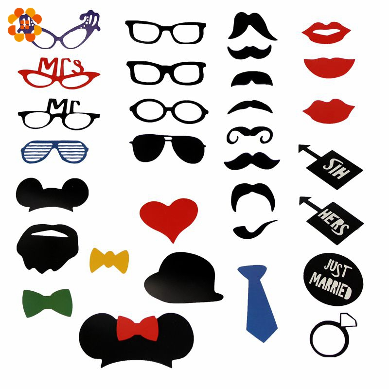 31PCS/Set Colorful Fun Lip Photo Booth Props For Wedding Decoration / Wedding Party Decorative Favors Event Party Supplies(China (Mainland))