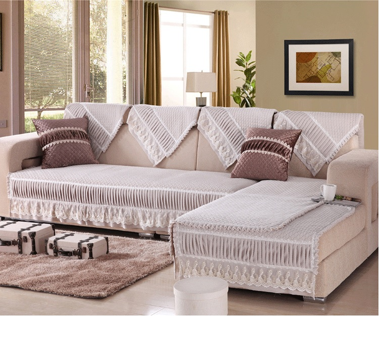 European Classical Sofa Cover White Grey Purple Pink Brown Multiple Sizes Optional Adornment Your Sofa(China (Mainland))