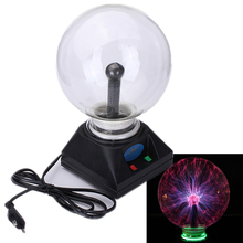 New Arrival USB Magical Crystal Plasma Ball Electrostatic Sphere Lighting Lamp Party Falshing Light Kid Xmas Brithday Gift 220V(China (Mainland))