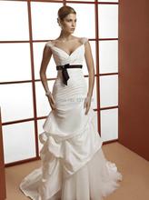 Popular 2017 White A-Line Wedding Dresses Custom Cap Sleeve Beaded Ruched Draped Ruffles Bow Sash Bridal Gowns Vestido de Novia(China (Mainland))