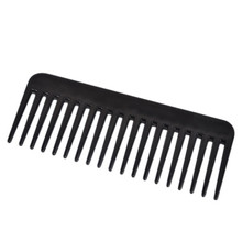 19 Teeth Black High Quality ABS Plastic Heat-resistant Large Wide Tooth Comb Detangling Wide Teeth Hairdressing Comb(China (Mainland))