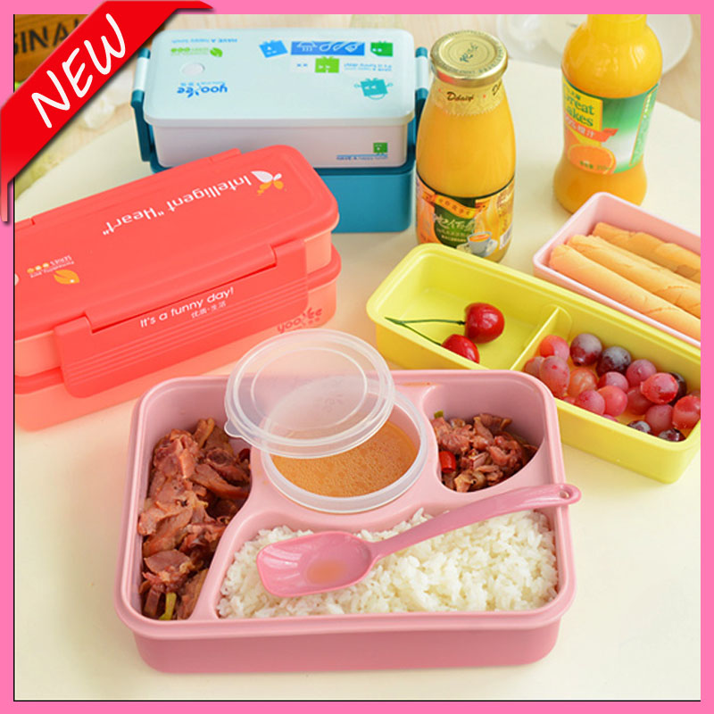 hot sale lunch box for kids bento box four compartment lunch box food container japanese dinner. Black Bedroom Furniture Sets. Home Design Ideas