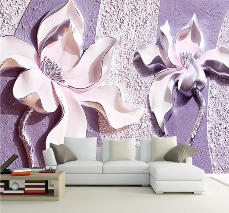 Фотообои 3д для стен цветы каталог