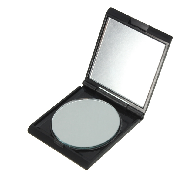Wholesale New Fashion Black Mini Double Size Nursing Portable Cosmetic Cute Folding Makeup Pocket Mirror Compact For Girl Gift(China (Mainland))