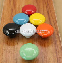 10PCS Dia.39mm Round Retro Ceramic Bedroom Door Cabinet Cupboard Drawer Knob Pull Handle + gift
