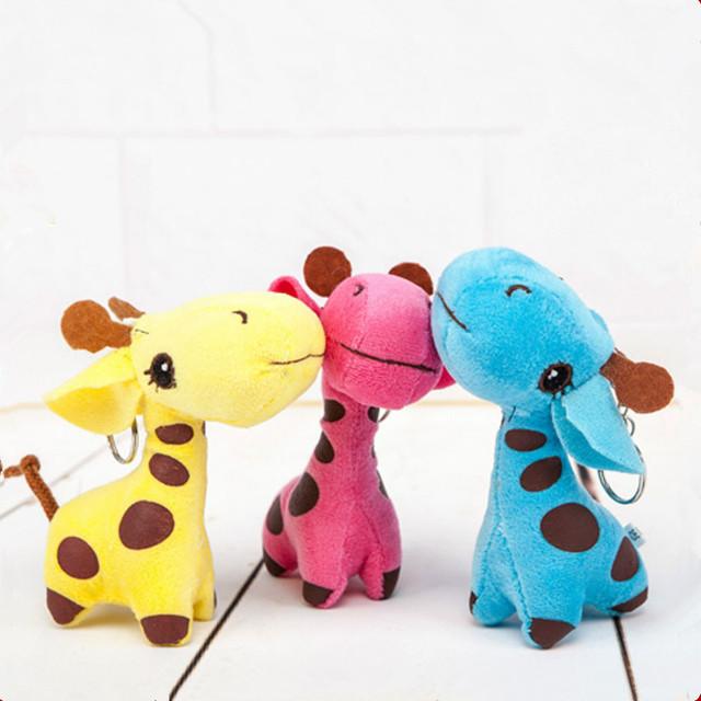 24 шт./лот новый 2016 12 см жираф дорогой мягкие плюшевые игрушки куклы малыш день рождения ну вечеринку подарок BL1122